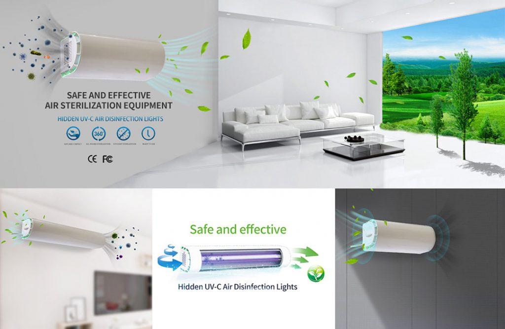 Hidden air germicidal lamp, fresh indoor air, UV air germicidal lamp