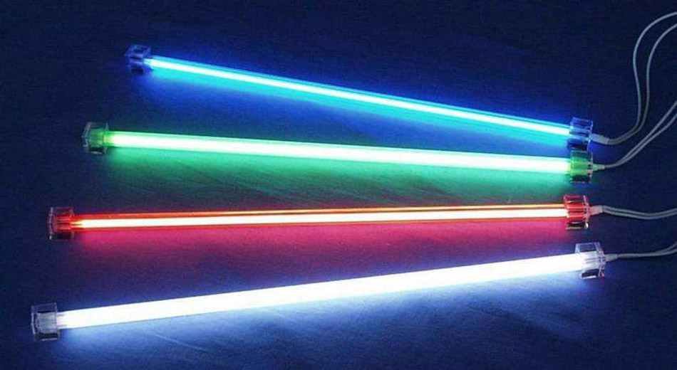 UV lamps of different colors, UVC radiation, UV lamp