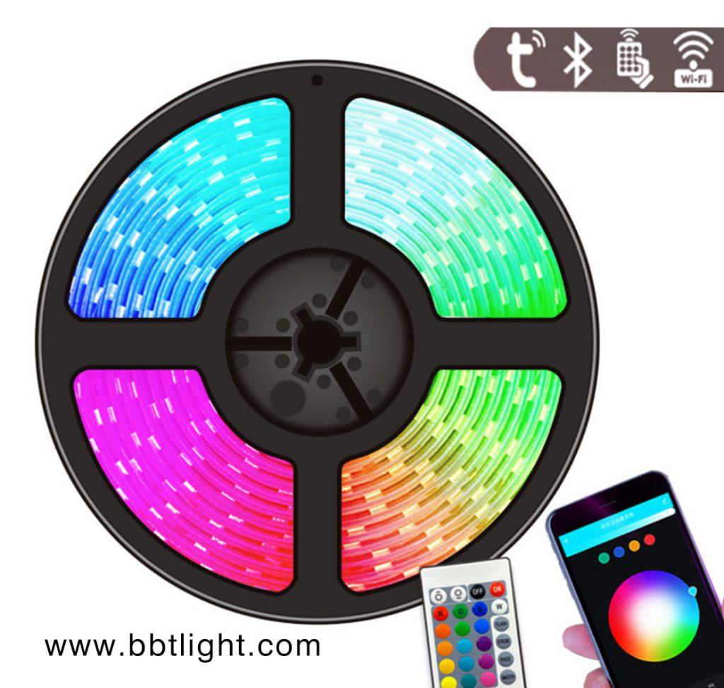 LED Bluetooth remote control rainbow light strip LED light strip, bluetooth light strip, color bar light