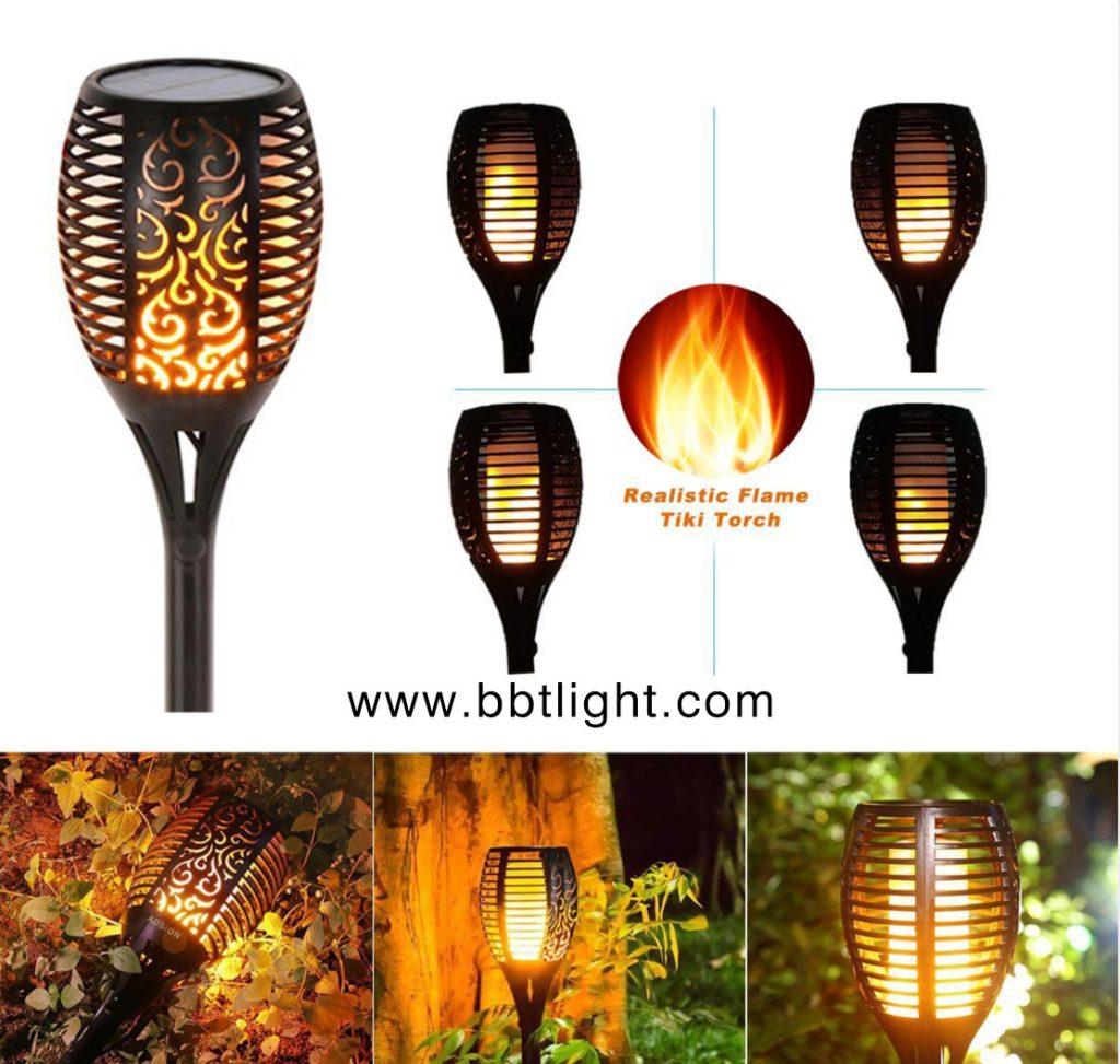 Simulation flame solar light garden light, Solar garden light