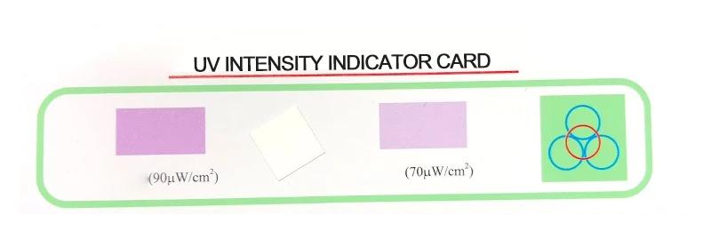 UV intensity test, UV intensity indicator