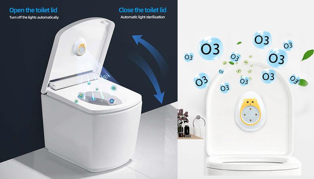 Fresh air deodorizer, Toilet sterilizer, toilet deodorizer, ozone deodorizer, UV sterilizer, positive and negative ion deodorizer